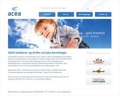 """ACEA Eiendom AS ønsket en webside som skulle gjennskape det norske / nordiske, basert på kjerneverdiene """"god hverdag - god fremtid"""". Vi hjalp dem med logo, websider, visittkort, profilhåndbok samt presentasjons materiale."""