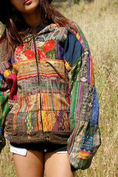 Vintage Guatemalan Hand Embroidered Natural Cotton Folk Art Shirt 1960s 1970s. via Etsy.
