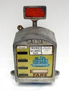 An iconic taxi cab meter manufactured by Halda