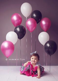 Tape down balloons in a photo shoot - cute at any age! Think graduation/class colors.. Or wedding?