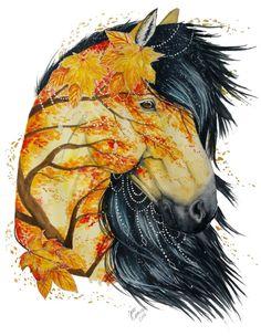 Les-aquarelles-d-animaux-de-Jonna-Lamminaho-10-cheval Les aquarelles d'animaux de Jonna Lamminaho