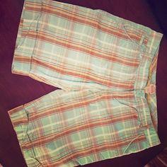 Ladies Bermuda Shorts Aqua Blue and Brown cotton Bermuda shorts. Mossimo Supply Co Shorts Bermudas
