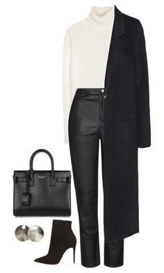 A fashion look from December 2015 featuring turtle neck top, wool coat and cigarette trousers. Browse and shop related looks. Uni Outfits, Fall Outfits, Fashion Outfits, Fashion Tips, Classy Winter Outfits, Stylish Outfits, Look Fashion, Korean Fashion, Looks Style