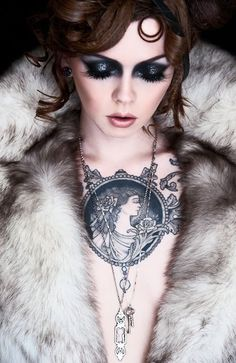cameo tattoo. Love this tat! I want one too!!    Make up by the lovely Megan Martinez - ChaosMakeUp Artist <3 model: Apnea