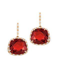 Ruby earrings! My birthstone