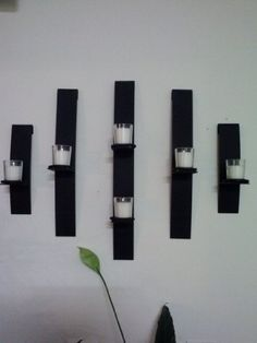 Metal Modern Art Wall Mount Candle Votive Holder Sconce Set of 5:Amazon:Home & Kitchen