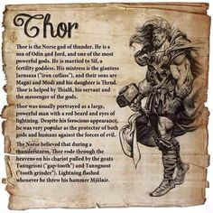 Lessons That We Can Learn From Thor. Among the Norse pantheon, there was barely a god whose reputation could rival the reputation of Thor. Thanks to the modern adaptations into movies, Thor was much more famous in this day and age. Pagan Gods, Norse Pagan, Old Norse, Viking Symbols, Viking Runes, Mythological Creatures, Mythical Creatures, Images Viking, Tatto Viking
