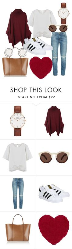 """""""Everyday casual"""" by omastova-k ❤ liked on Polyvore featuring Daniel Wellington, Illesteva, Current/Elliott, adidas, Dolce&Gabbana, Marc by Marc Jacobs, women's clothing, women's fashion, women and female"""