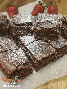 This thermomix Chocoalte slice recipe is a beautiful light slice that works perfectly for any occasion. Top Deck Chocolate, Chocolate Slice, Sweet Recipes, Cake Recipes, Condensed Milk Recipes, Thermomix Desserts, Square Cakes, Sweets Cake, Something Sweet