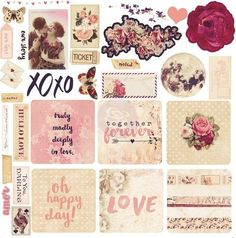 Prima Marketing - Love Clippings - Ephemera This delightful ephemera pack features coordinating shapes from the Love Clippings Collection. These paper die cuts make the perfect embellishments for all your projects. Scrapbook Templates, Scrapbook Stickers, Scrapbook Albums, Scrapbook Supplies, Scrapbook Paper, Scrapbook Journal, Vintage Labels, Vintage Ephemera, Vintage Cards