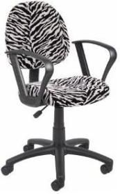 Boss Office Products Perfect Posture Delux Microfiber Task Chair with Loop Arms in Zebra Zebra Print Bedding, Animal Print Furniture, Zebra Chair, Rolling Chair, Perfect Posture, Stool Chair, Desk Chairs, Office Chairs, Swivel Chair