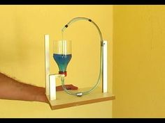 Continuous Motorcycle Boyle& Vase Here& How - Stem Projects, Science Fair Projects, Projects For Kids, Science Experiments, Science Toys, Science For Kids, Science Biology, Marble Machine, Diy Garden Fountains