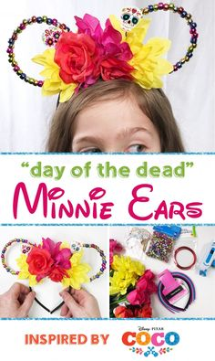 "DIY ""Day Of The Dead"" Minnie Ears Inspired By Disn…"