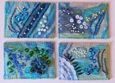 ATC série bleue / blue ATC | Flickr - Photo Sharing!