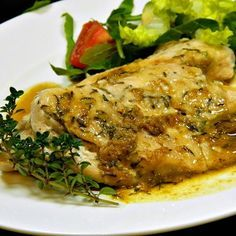 "Pan-Seared Chicken with Thyme I ""RAVE reviews from the family. Simply delish!"""