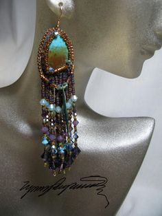 Hey, I found this really awesome Etsy listing at https://www.etsy.com/listing/102130456/kingman-earrings-created-by-lynn-parpard