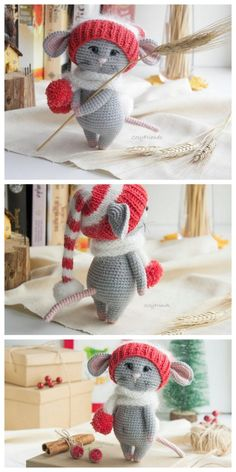 Educational and interesting ideas about amigurumi, crochet tutorials are here. Crochet Amigurumi Free Patterns, Crochet Animal Patterns, Crochet Doll Pattern, Stuffed Animal Patterns, Crochet Dolls, Doll Patterns, Clothes Patterns, Crochet Christmas Decorations, Christmas Crochet Patterns