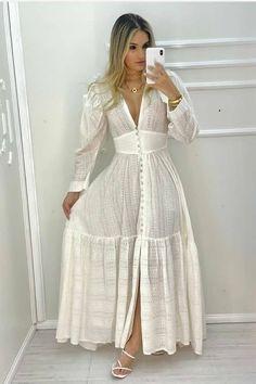 Simple Dresses, Casual Dresses, Fashion Dresses, Indian Designer Outfits, Designer Dresses, Mode Kimono, Dress Neck Designs, Sweet Dress, Mode Outfits