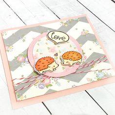 card with critters lawn fawn hedgehugs - kort med pindsvin - Amor de erizos para un viernes bonito | Artcreatiu