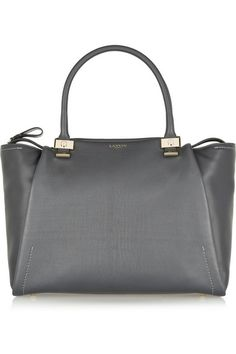 LANVIN Trilogy leather shopper in Anthracite
