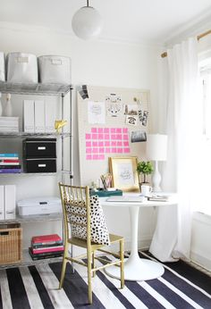 Essentials for a Home Office and a really chic creative workspace + office!