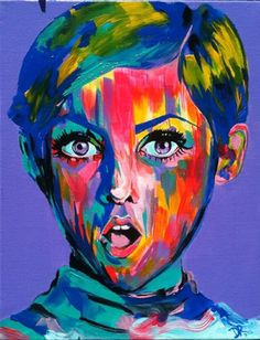 -TWIGGY-  <--- I'm guessing this is who the painting is based upon, but all I can see is the girl who played Draco is a Very Potter Musical.
