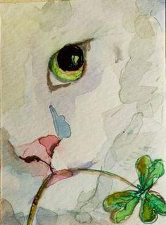 Irish Cat by Artist Delilah Smith