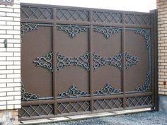 House Main Gates Design, Main Entrance Door Design, Front Gate Design, Door Gate Design, Entrance Doors, Garage Design, Metal Gates, Wrought Iron Gates, Iron Front Door