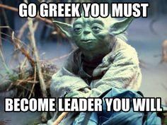 Yoda says GO GREEK