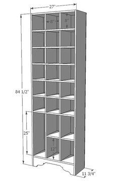 A tall shoe cabinet... Yes!  mehr Fächer für Stiefel einbauen.