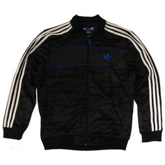 Adidas ADV ash/black track jacket Manchester ($76) ❤ liked on Polyvore featuring activewear, activewear jackets, jackets, adidas sportswear, warm up jackets, track jacket, track top and tracksuit jacket