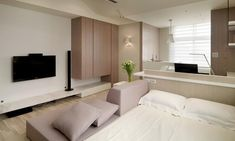 Tiny Studio Apartment By WCH Interior   HGTV Decor