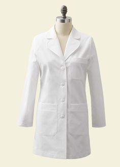 The Ellody lab coat is designed specifically for shorter statures with proprietary performance fabric. Shop Medelita for petite white lab coats. Doctor White Coat, White Lab Coat, Lab Coats, Scrub Jackets, Petite Size, Scrubs, Cool Outfits, Stylish, Cotton