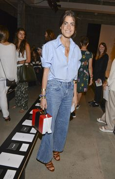 Leandra Medine is flawless in #denimondenim - doesn't get any better! #nyfw