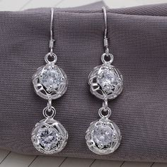 DUMAN Fashion Jewelry 925 Silver Plated Earrings  ($8.24)