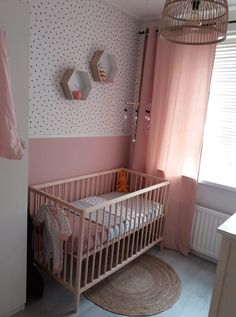 The post appeared first on Slaapkamer ideeën. Baby Bedroom, Baby Room Decor, Nursery Room, Girls Bedroom, Bedroom Decor, Newborn Room, Bedroom Wall Colors, Kids Room Design, Big Girl Rooms