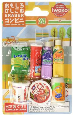 Amazon.com: Japanese Brand Snacks - Iwako Food Japanese Eraser Set: Toys & Games