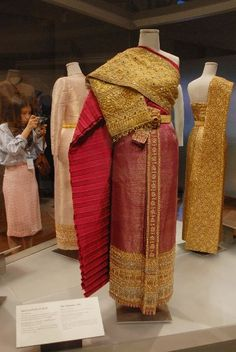 Thai tradition dress of HM the Queen of Thailand.