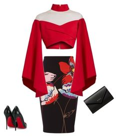 """Grown 💋"" by imani-ciera on Polyvore featuring Fenn Wright Manson, Balmain, Christian Louboutin and Balenciaga"