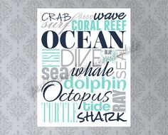 Custom Word Collage Printable Sign, Select Words and Colors Up to 20 Words