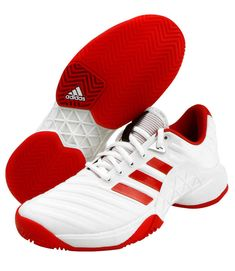 fbcba2a2f97 adidas 2018 Barricade Boost Women s Tennis Shoes White Red Racquet Racket  CQ1726  adidas Play Tennis