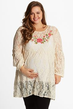 76d3fa3881528 Cardigan-Style Breastfeeding Tunic (Prenatal & Postpartum) - Plus Size  Maternity Clothes - nissen Global - online store for … | Clothes I love and  want ...