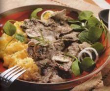 Vaca - Bifinhos com cogumelos