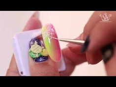 [IT's nail 5화] 네온체크 그라데이션 / Check neon gradient - YouTube