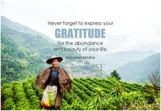 Never forget to express your gratitude for the abundance and beauty of your life. - Debasish Mridha #gratitude #qotd #quote #inspirational #inspirationalquote #inspirationalwords #potd