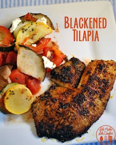 Blackened Tilapia. This tilapia is crusted in a spicy cajun crust and is delicious! #lmldfood