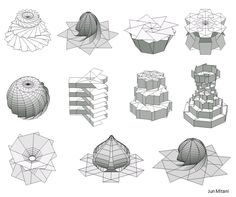 ORI-REVO: A Design Tool for 3D Origami of Revolution by Jun Mitani, Univ. of Tshkuba 2011
