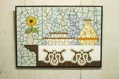 Mosaic Tiles, Mosaic, Bloom, Ceramics, Frame, House, Home Decor, Wall Tiles, Ceramica