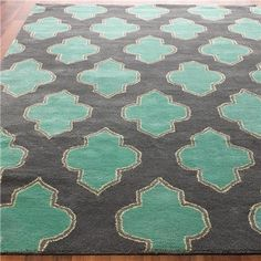 Floating Medallion Hand Tufted Rug from Shades of Light (like Sherry and John's bedroom rug on Young House Love)