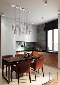 The project is a modern two-level apartment in Kazan area of 83 square meters. Проект современной двухуровневой квартиры в Казани площадью 83 квадратных метра.